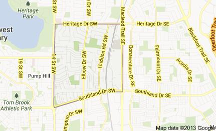 map of haysboro